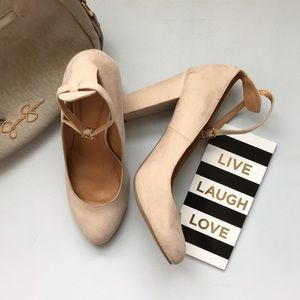 Wild Diva nude heels with ankle strap